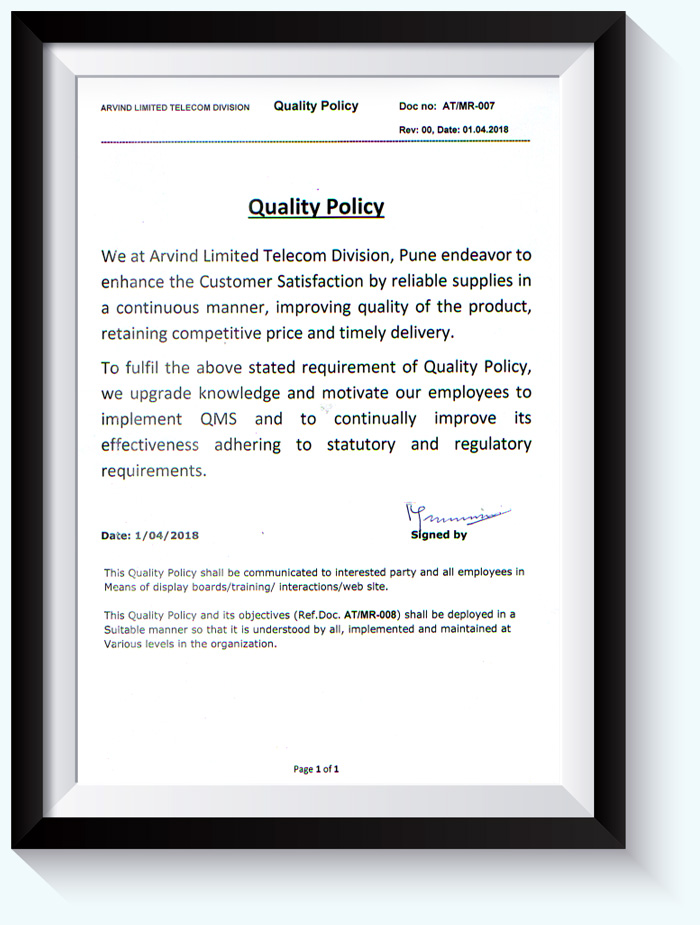 Syntel Quality Policy